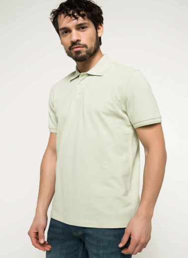 DeFacto Basic Polo T-shirt Yeşil
